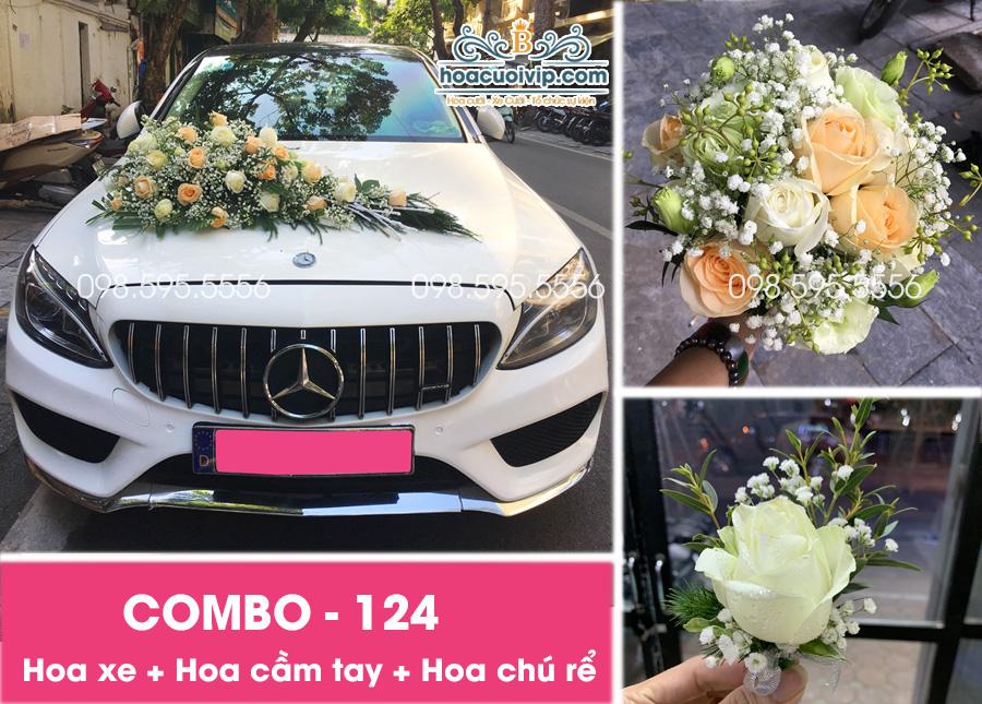 Hoa xe cưới đẹp combo-124