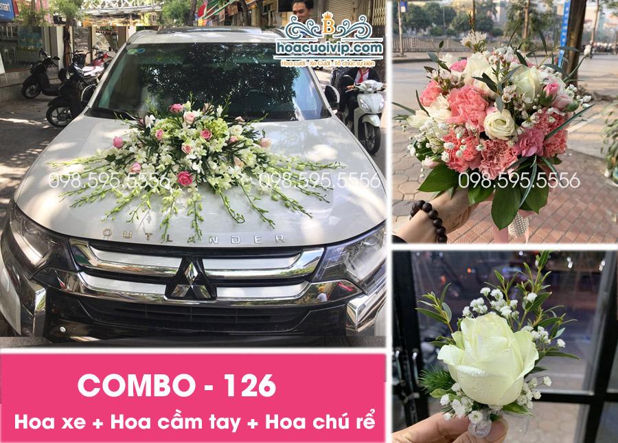 Hoa xe cưới đẹp combo-126