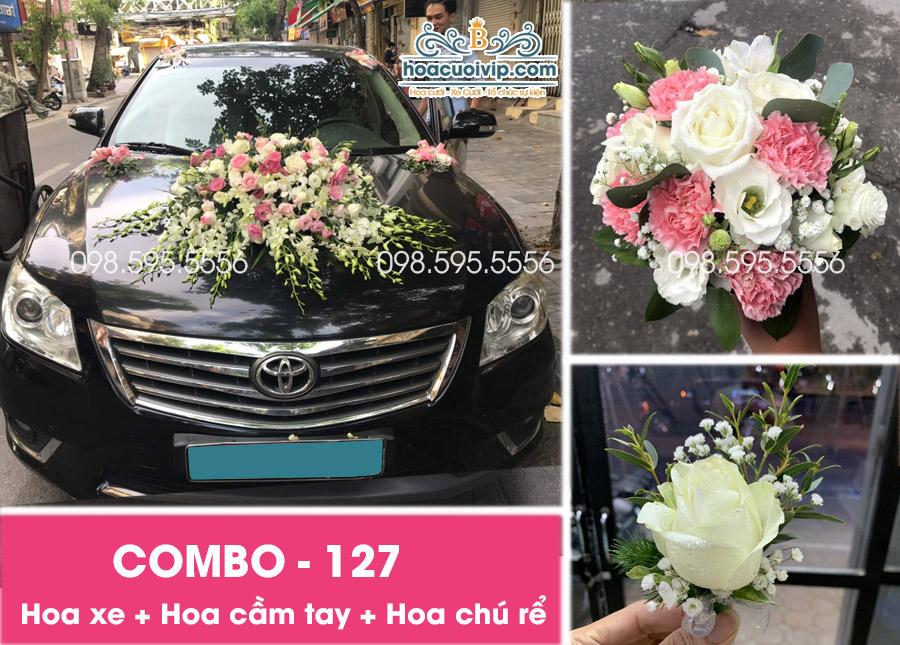 Hoa xe cưới đẹp combo-127