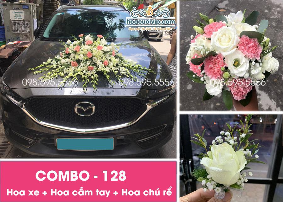 Hoa xe cưới đẹp combo-128