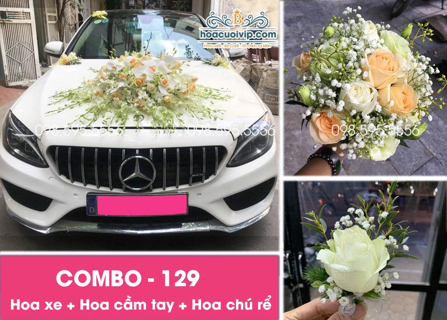 Hoa xe cưới đẹp combo-129