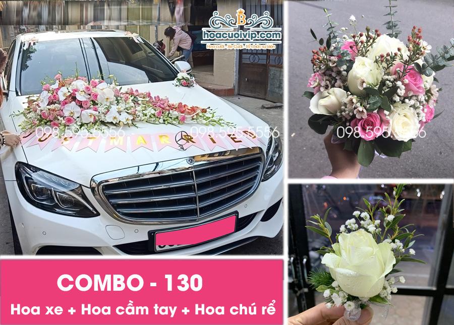 Hoa xe cưới đẹp combo-130