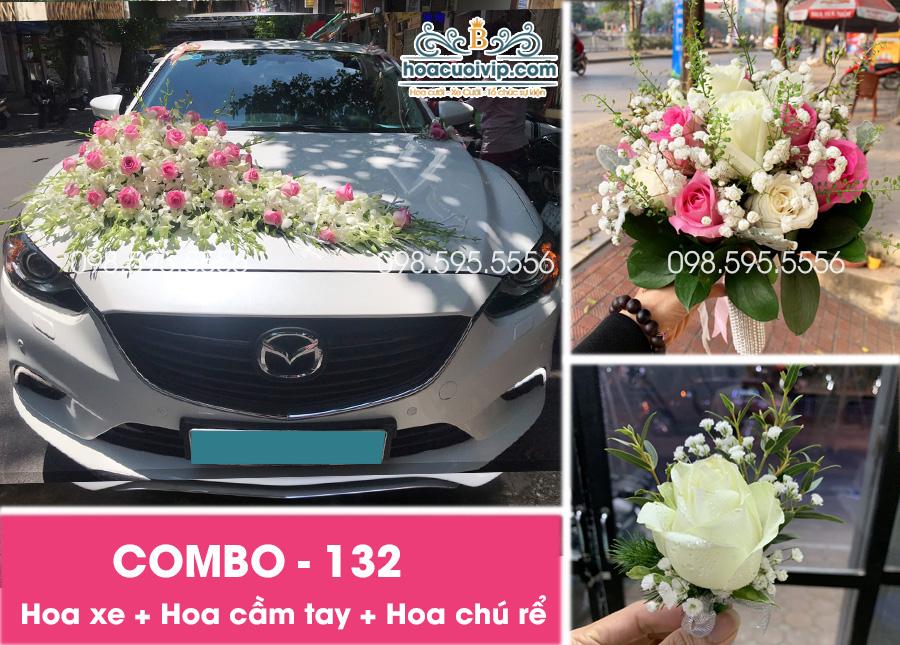 Hoa xe cưới đẹp combo-132