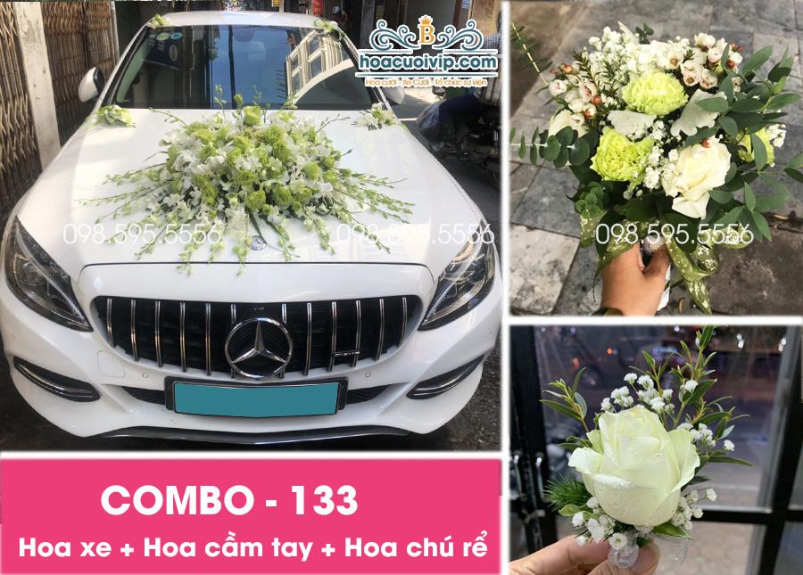 Hoa xe cưới đẹp combo-133