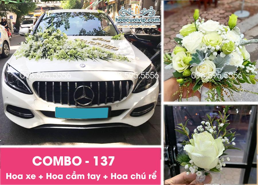 Hoa xe cưới đẹp combo-137